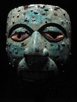 Aztec mask of Xiuhtecuhtli